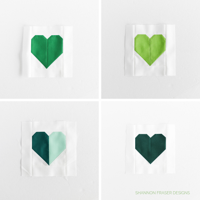 Round up of green heart blocks | Hearts for Christchurch | Call to action for quilt drive | Shannon Fraser Designs