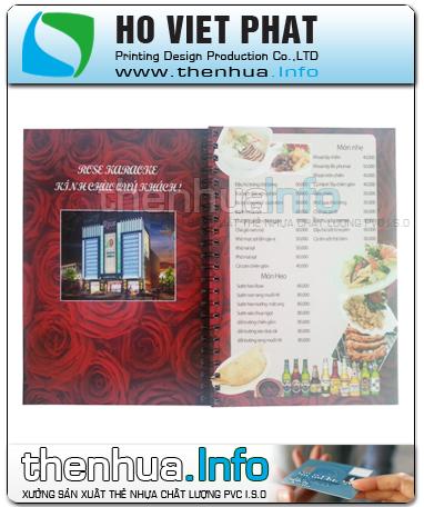 Xưởng sản xuất menu nhà hàng bằng nhựa bền – đẹp – giá rẻ