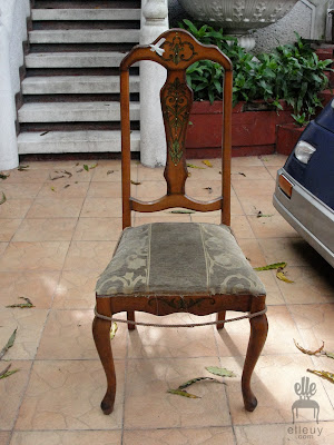 chair makeover, french chairs, chair before and after