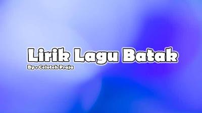 Lirik Lagu Sumpah Ala Ni Holong Ito Voc. Novita Dewi Marpaung