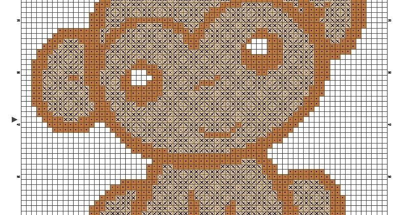 Dibujos Punto de Cruz Gratis Mono en patrones punto de cruz