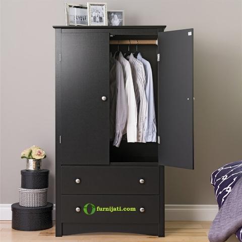 Model lemari kayu jati minimalis