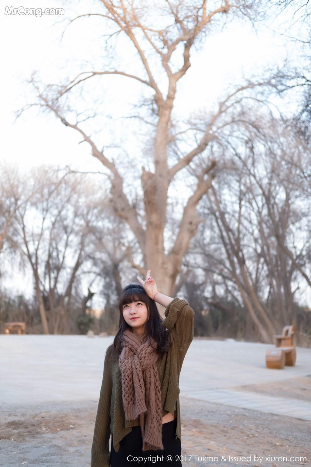Image Tukmo-Vol.105-Qiu-Qiu-MrCong.com-007 in post Tukmo Vol.105: Người mẫu Qiu Qiu (球球) (41 ảnh)