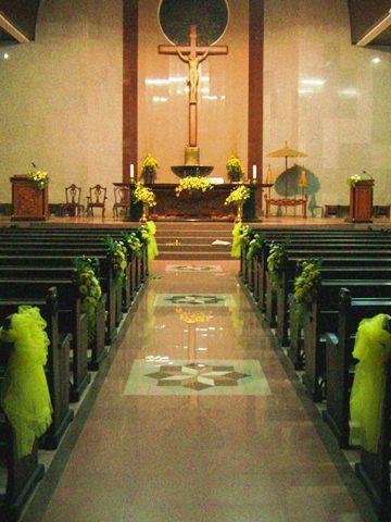 Alamanda Puspita Dekorasi Sakramen  Pemberkatan Gereja