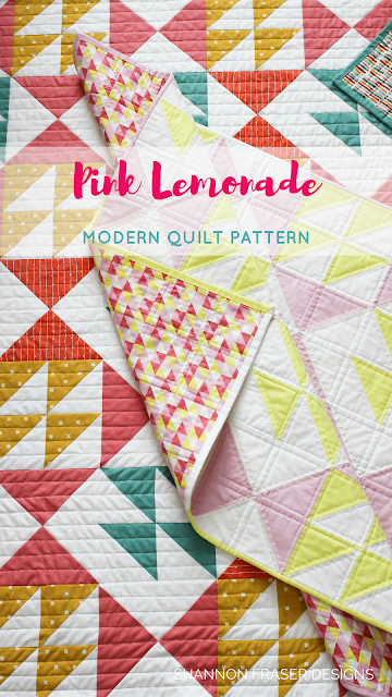 Pink Lemonade Quilt Pattern by Shannon Fraser Designs
