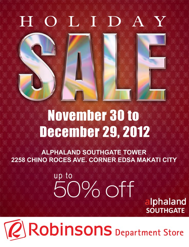 a808cac55e8c Corner Edsa Makati City will be having their Holiday Sale event on November  30