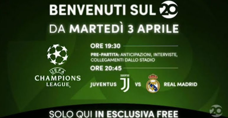 Juventus-Real Madrid in chiaro su Mediaset Venti e biglietti esauriti all'Allianz Stadium