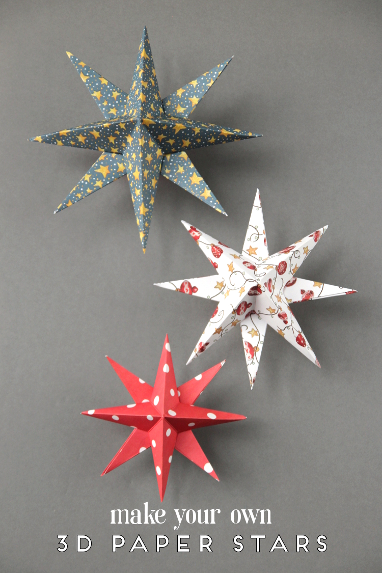THROW BACK THURSDAY – 3D CHRISTMAS PAPER STARS.