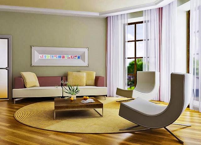 Kombinasi warna cat bagian dalam rumah - Warna dinding cat rumah bagian ruang tamu