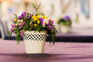 manage terrace with flower