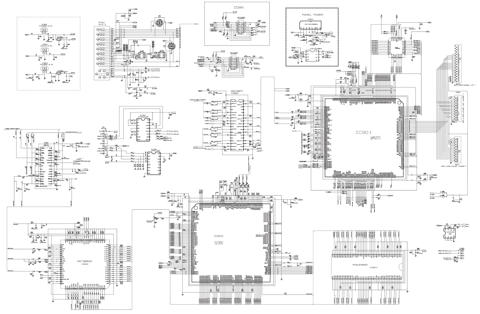 Rz26lz55 lg lcd tv circuit diagram schematic diagrams video control and display data video signal is received from tuner av portav1av2s videocomponent and goes to the one chip video decoder vcti which pooptronica Images