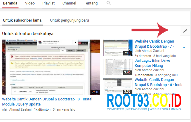 Mengatur Halaman Depan Channel Youtube 3