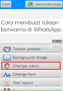 Cara Membuat Tulisan Warna Dan Unik Di Whatsapp