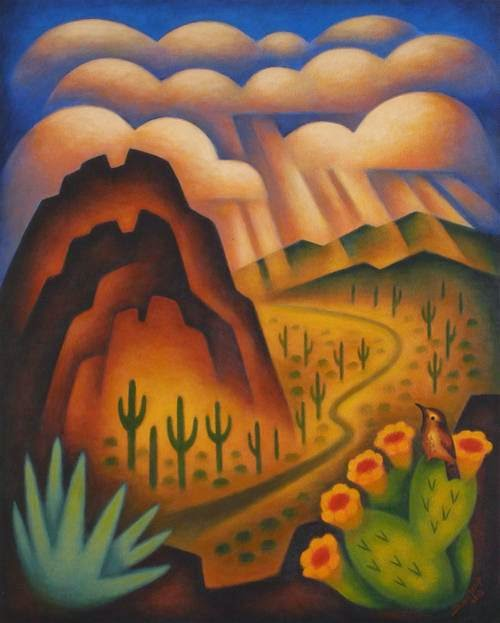 Cassie Stephens In The Art Room Desert Landscapes With