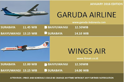 Flight Schedule Surabaya to Banyuwangi