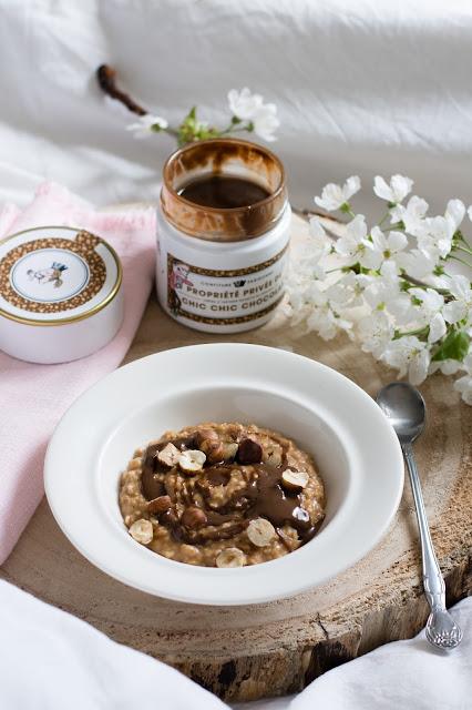Porridge au praliné