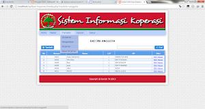 Sistem Informasi Koperasi Simpan Pinjam Menggunakan PHP Mysql