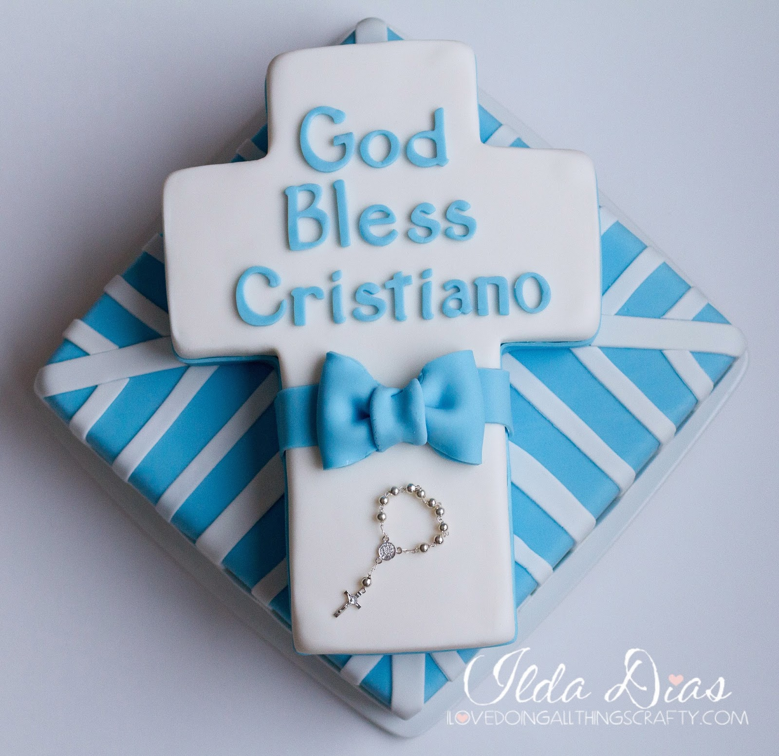 Download I Love Doing All Things Crafty: Cristiano's Baptism Cake