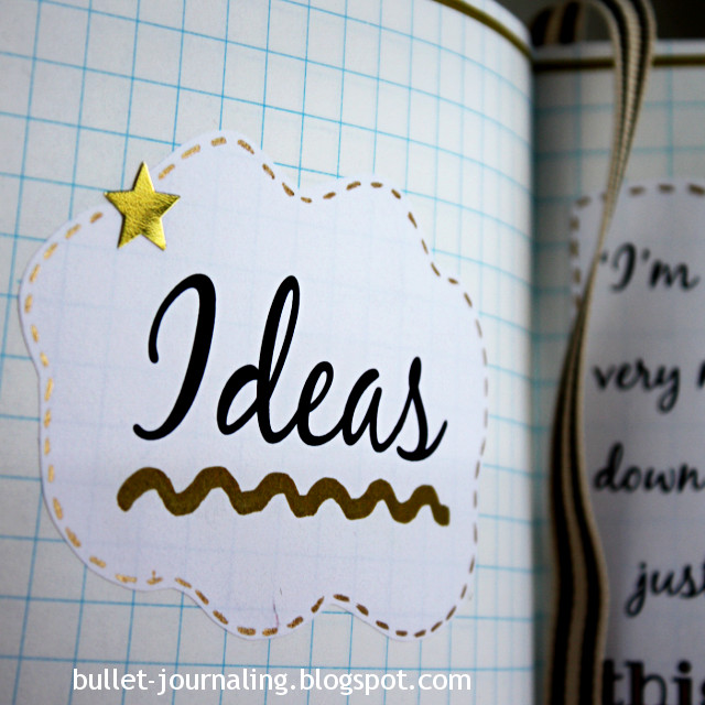 Bullet Journal Ideas spred