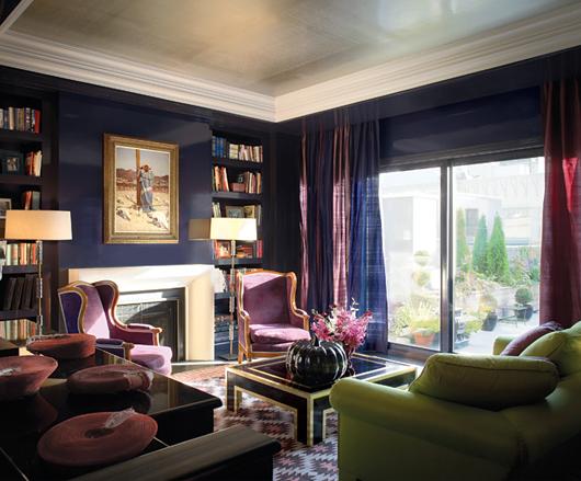 christa delgado design inc purple and green design. Black Bedroom Furniture Sets. Home Design Ideas