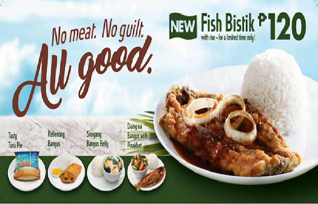 Goldilocks Offers Special Lenten Meals