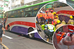2 Orang meninggal tertabrak Bus Pariwisata di To Kwa Wan