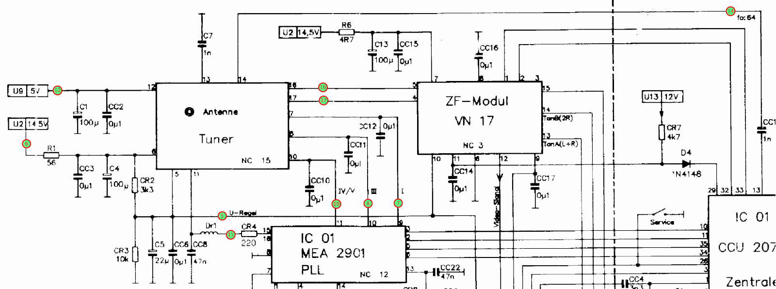 Tuner Uhf Tv Schematics Wiring Schematic Diagram Booster Amplifier As Well Antenna Circuit How To Identify An Unknown Radio One Transistor Homemade