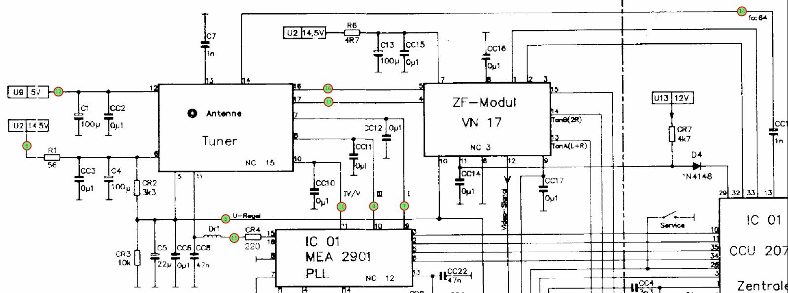 Schneider DTV1 chassis schematic