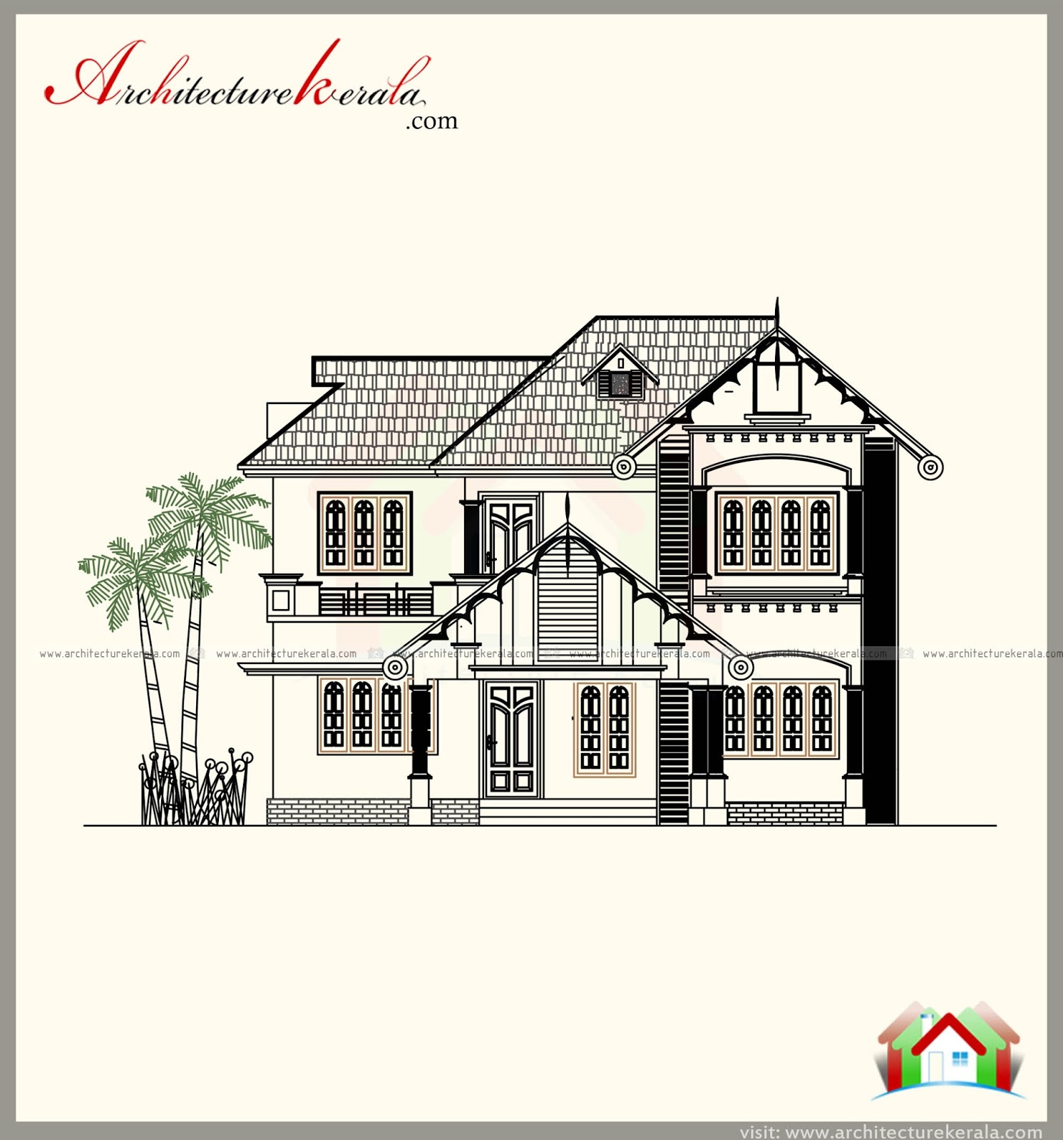 Kerala style house plan and elevation architecture kerala for Kerala house plans with elevation