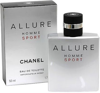 Embalagem e Frasco do Perfume Chanel Allure Homme Sport EDT