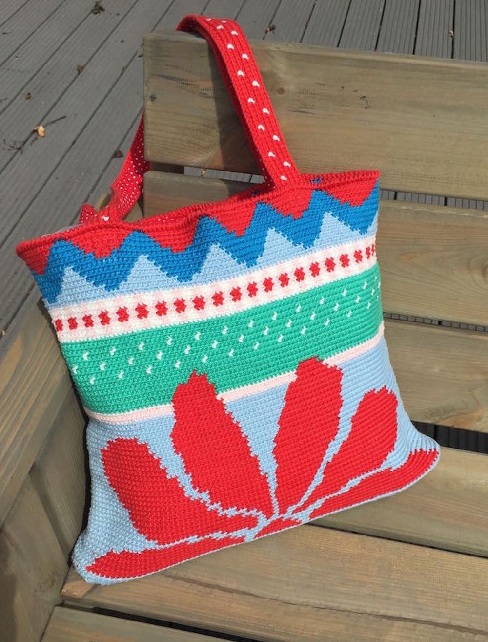 Madebyleen Blog Over Haken Crochet Blog Red Sunflower Bag