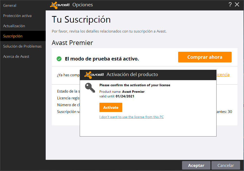 licencia avast cleanup 2016