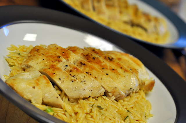 Grilled Chicken with Lemon Orzo Pasta | Taste As You Go