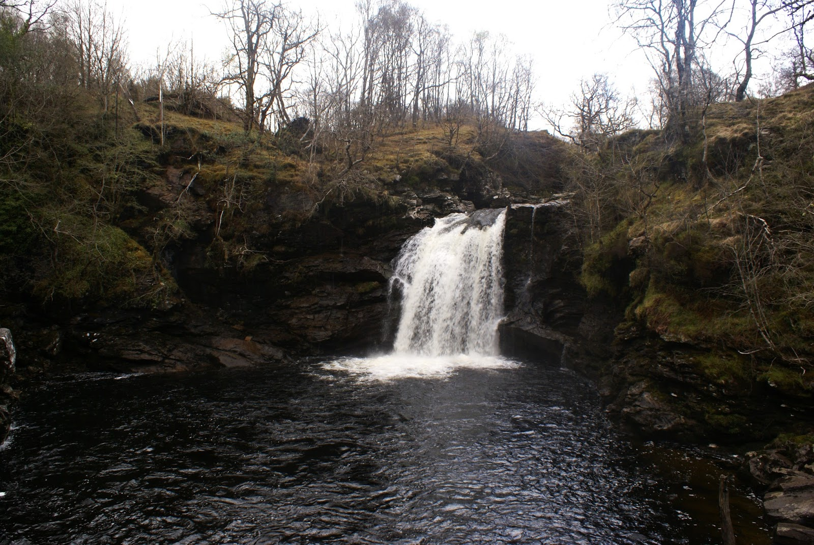 falloch falls A82 loch lomond scotland uk