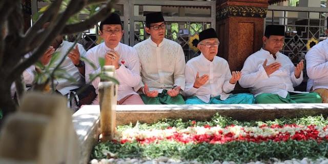 Ziarah ke makam Hasyim Asy'ari, Prabowo-Sandi napak tilas resolusi jihad