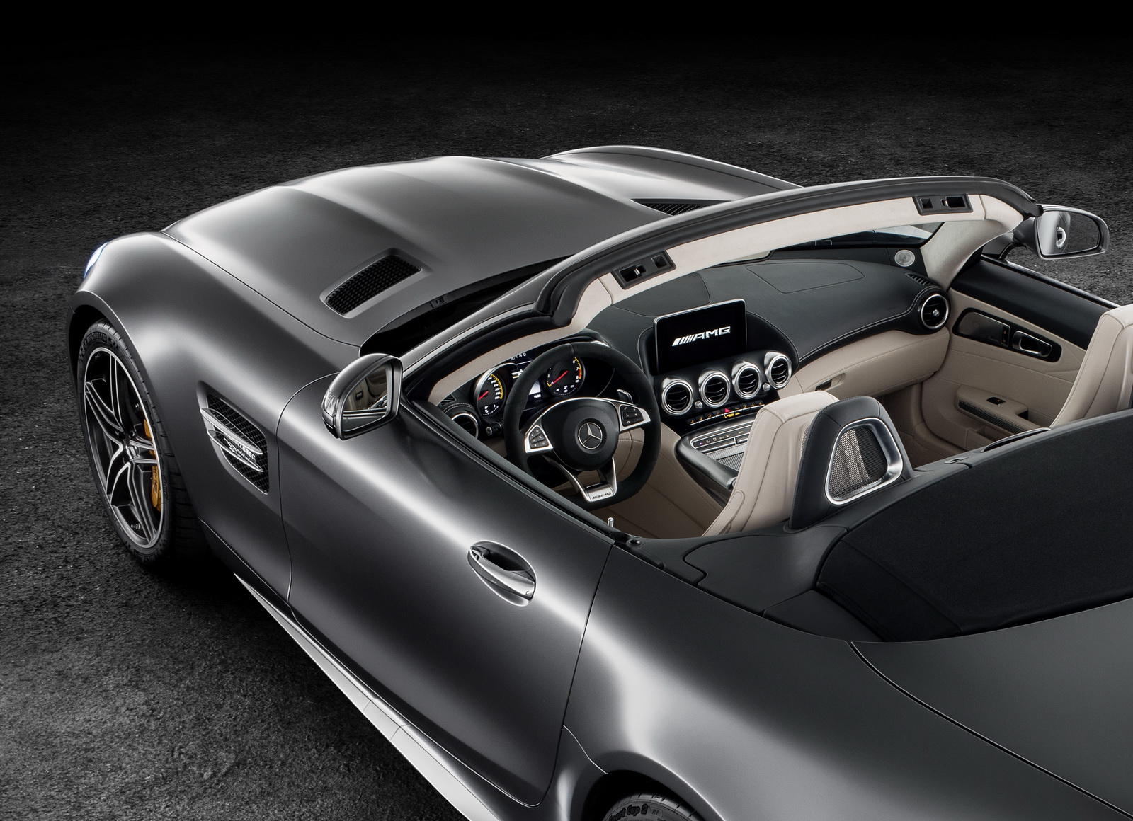 new mercedes amg gt roadster gt c roadster officially revealed w video carscoops. Black Bedroom Furniture Sets. Home Design Ideas