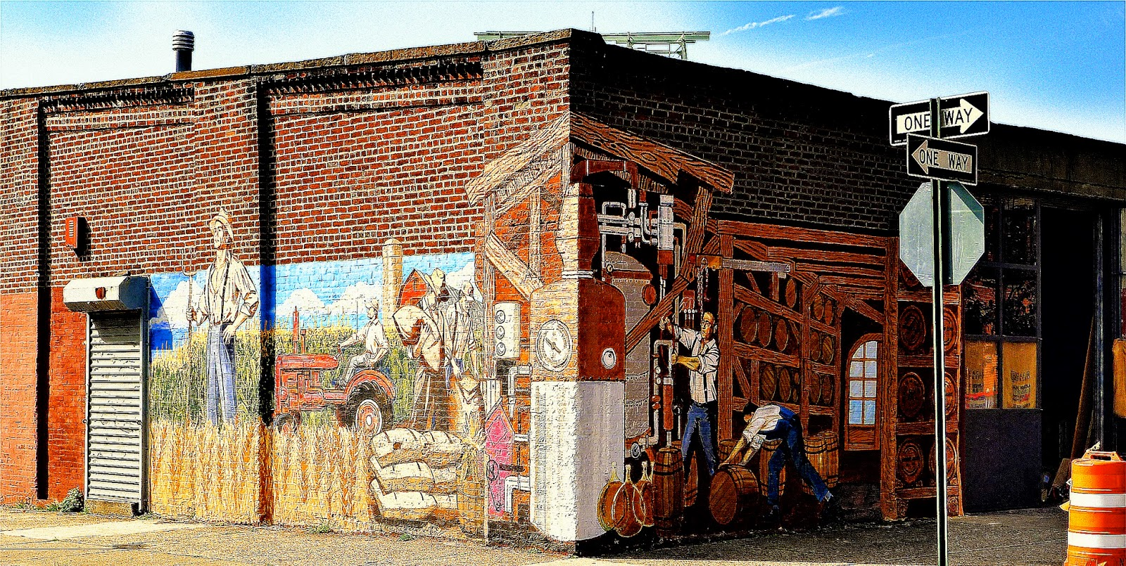Architectural tiles glass and ornamentation in new york wall cacao prietos warehouse is on the corner of conover and coffey streets and contains an exterior wrap around mural painted on the brick walls amipublicfo Choice Image