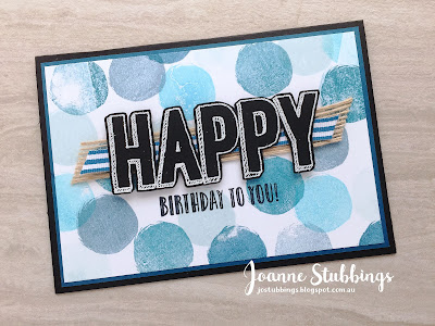 Jo's Stamping Spot - ESAD 2018 Retirement List Blog Hop using Happy Celebrations by Stampin' Up!
