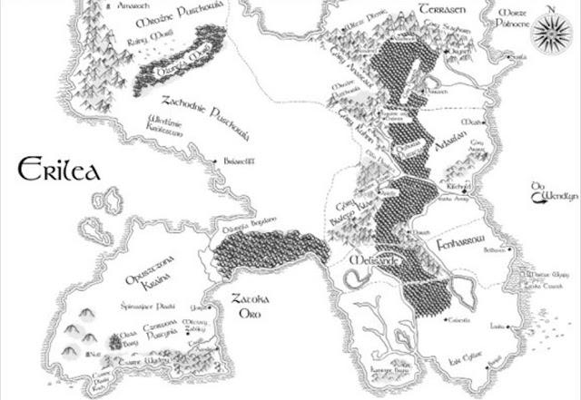 Sarah J. Maas Szklany tron mapa