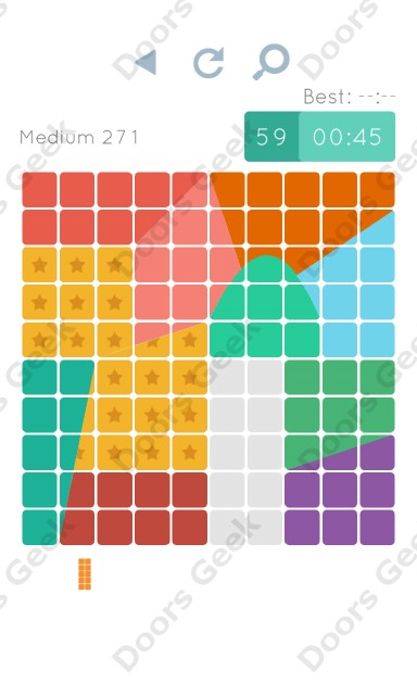 Cheats, Walkthrough for Blocks and Shapes Medium Level 271