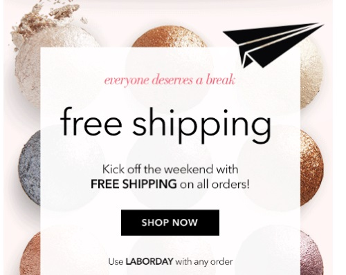 ELF Cosmetics Free Shipping + Free Fall Bag Labour Day Promo Code