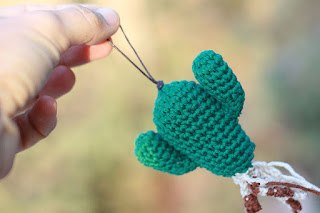 Crochet Cactus Saguaro, crochet Pendant Charm, Christmas ornament, nature green Amigurumi, Keychain charm, Handmade cacti, Special funny gift TomToy