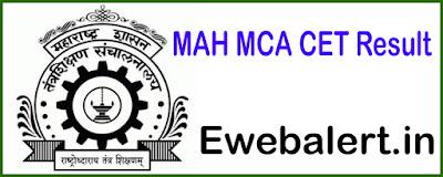 MAH MCA CET Result