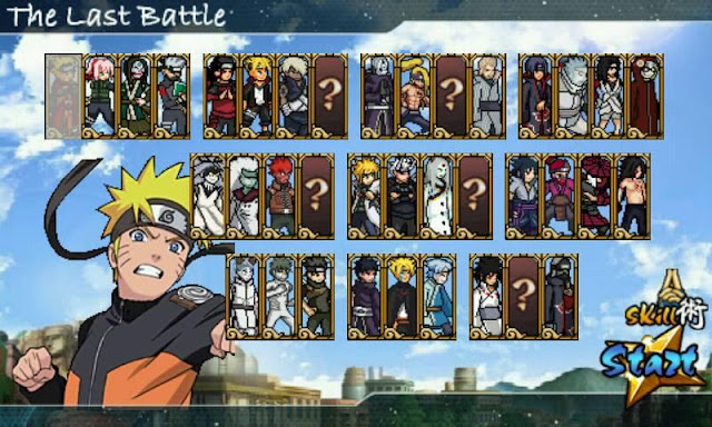 Download Naruto Senki MOD The Last Battle Skill No Delay All Character Unlocked Apk Game Terbaru