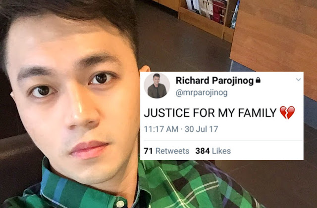 Celebrity Richard Parojinog cries justice for family killed in Ozamiz drug raid