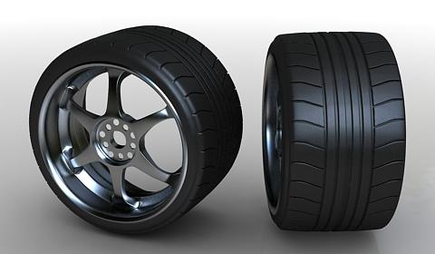 car wheel 3d model free