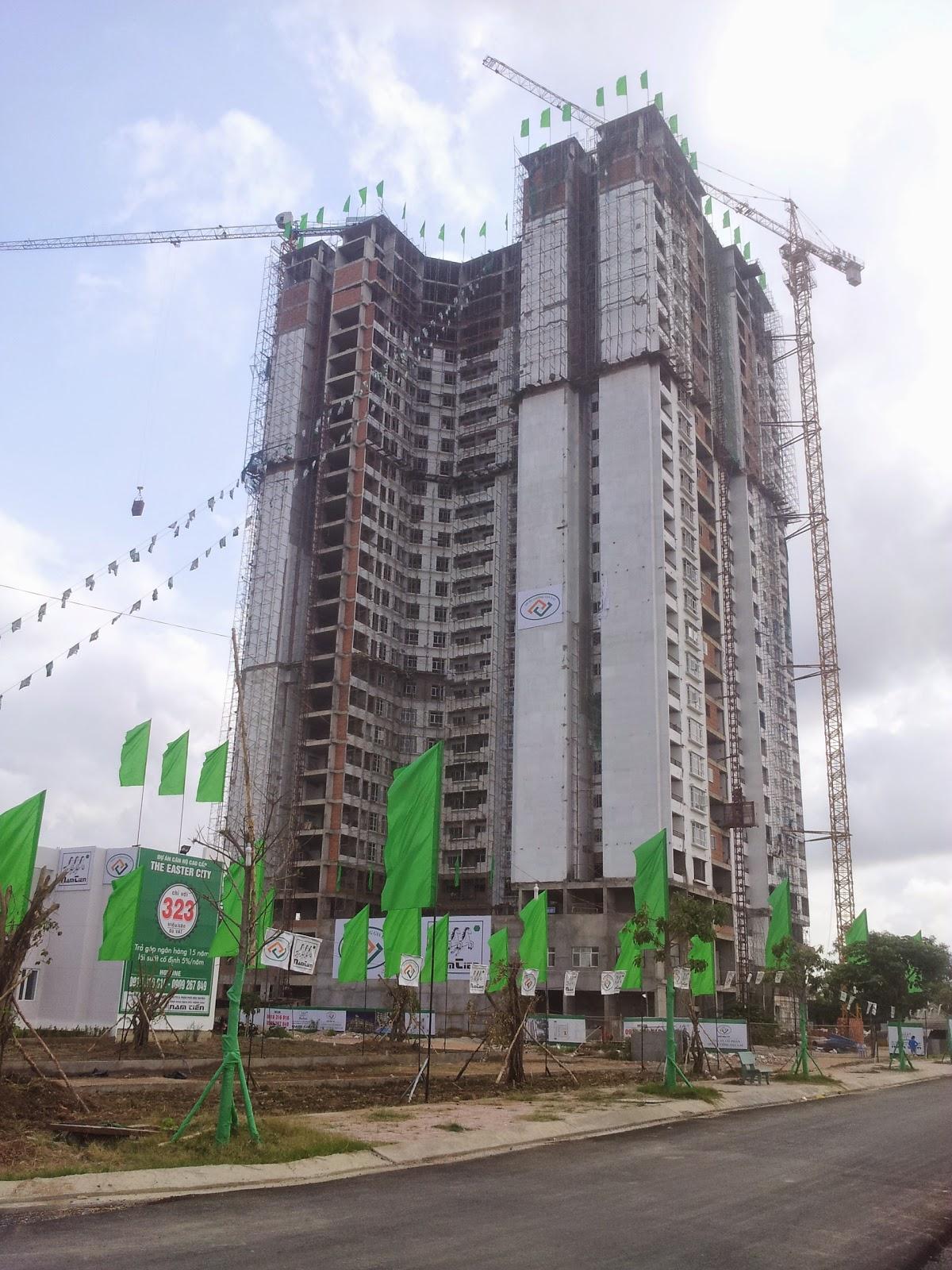 Tiến độ xây dựng dự án căn hộ The Easter City đường Phạm Hùng