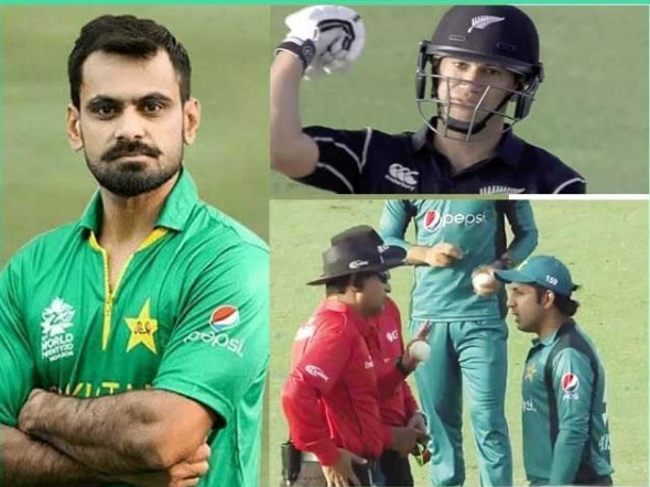 Hafeez bowling action, instead  of umpire, the Batsman questioned