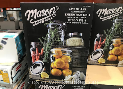 Store flour, pasta, treats in Oversized Mason Jars