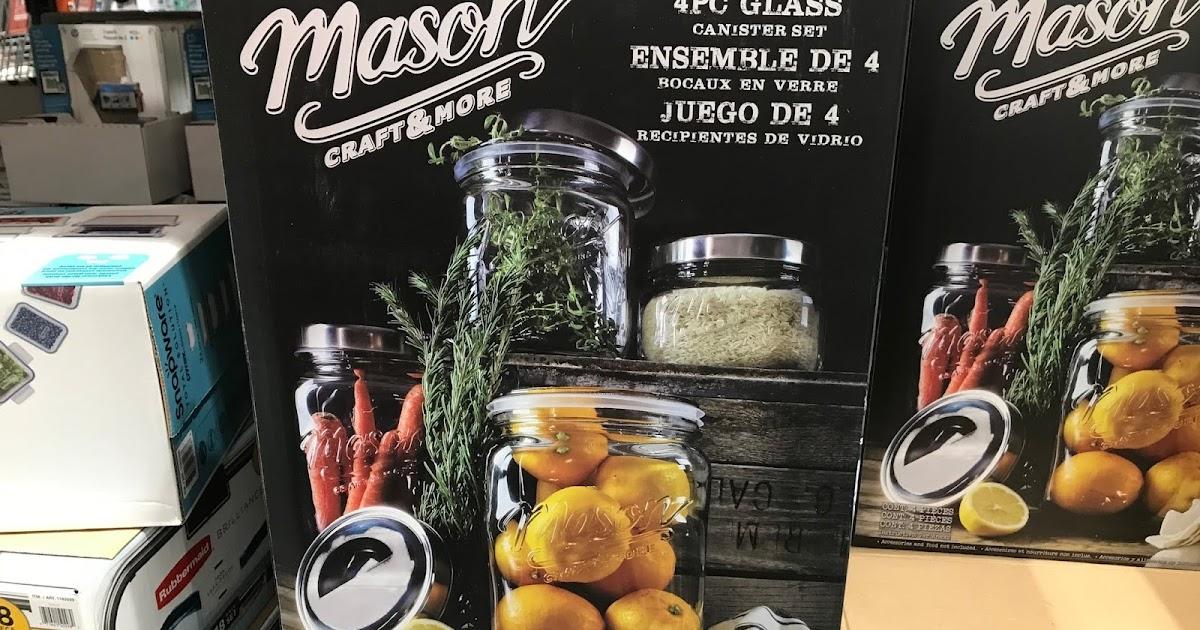 Oversized Mason Jars 4 Pc Costco Weekender